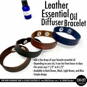Jewelry - 🆕 Handmade Leather Diffuser Bracelet 🆕